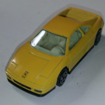 1:43 Burago Ferrari 348 tb yellow road car diecast model @sold@